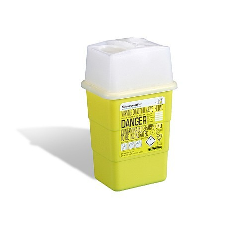 SHARPS DISPOSAL BOX (1 LITRE)
