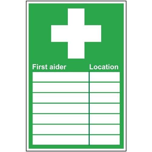 FIRST AIDER SIGN (200 x 300mm)