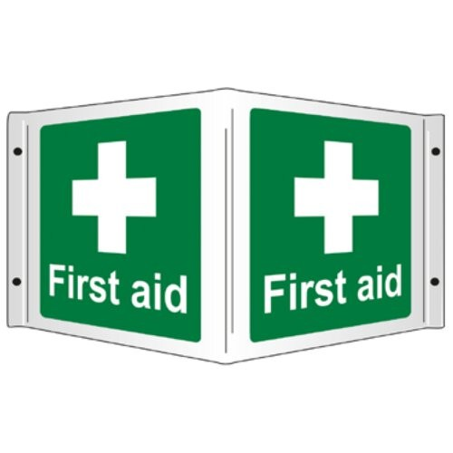 3D FIRST AID SIGN (350 x 200mm)