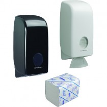 AQUARIUS TOILET TISSUE DISPENSERS & SCOTT REFILLS