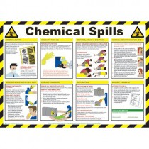 ACTION FOR CHEMICAL SPILLS POSTER