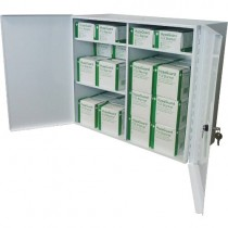 LOCKABLE WALL CABINET WITH EMERGENCY FOIL BLANKETS