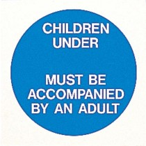CHILDREN UNDER __ MUST...  SIGN