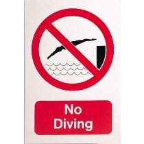 NO DIVING SIGN - LARGE