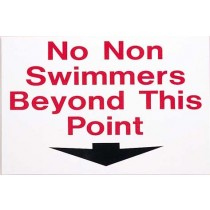 NO NON SWIMMERS BEYOND THIS POINT SIGN - LARGE
