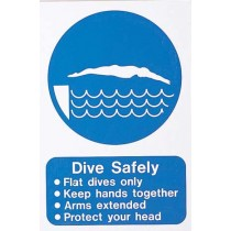 DIVE SAFELY SIGN LARGE