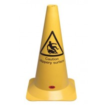 """CAUTION SLIPPERY SURFACE"" CONE"
