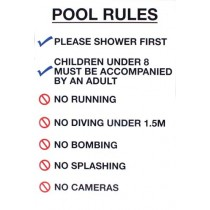 POOL RULES SIGN - LARGE