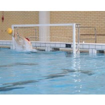 STAINLESS STEEL 'POOL EDGE FASTENING' WATER POLO GOALS