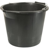 PLASTIC BUCKET - BLACK (14L)