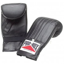 PRO-BOX LEATHER CLUB PUNCHBAG MITTS - BLACK