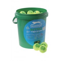 SLAZENGER INTRO TENNIS LC BALLS - BUCKET (GREEN)