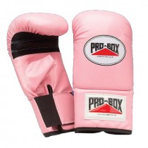 PRO-BOX PU PRESHAPED PUNCHBAG MITTS - PINK (MEDIUM)