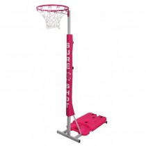 SURE SHOT EASIPLAY NETBALL POST - SILVER/PINK