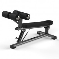 JORDAN ADJUSTABLE ABDOMINAL DECLINE BENCH - METALLIC GREY