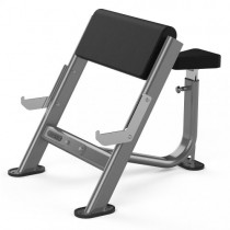 JORDAN PREACHER CURL BENCH - METALLIC GREY