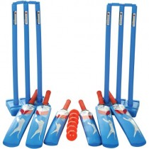SLAZENGER ACADEMY PLASTIC CRICKET TEAM SET