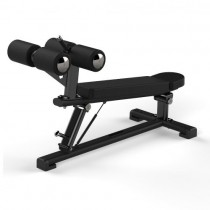 JORDAN ADJUSTABLE ABDOMINAL DECLINE BENCH - BLACK