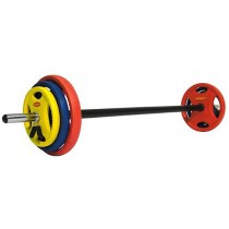 RUBBER RADIAL STUDIO BARBELL SET