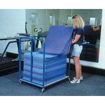 AEROBIC MAT STORAGE TROLLEY