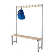 CLOAKROOM HOOK BENCHES - SINGLE