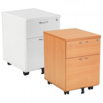 DELUXE 2 DRAWER MOBILE PEDESTAL