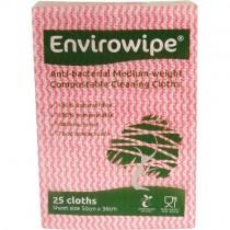 ENVIROWIPE ANTI-BACTERIAL COMPOSTABLE CLOTHS