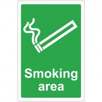 SMOKING AREA SIGN (200 x 300mm)