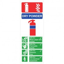 DRY POWDER FIRE EXTINGUISHER SIGN (75 x 200mm)