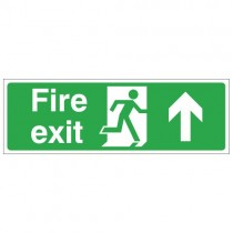 FIRE EXIT SIGN - UP (450 x 150mm)