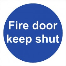 FIRE DOOR KEEP SHUT SIGN (100 x 100mm)