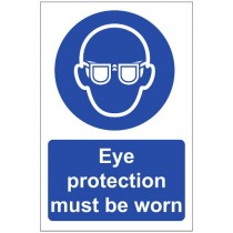 EYE PROTECTION MUST BE WORN SIGN (200 x 300mm)