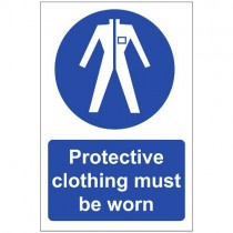 PROTECTIVE CLOTHING MUST BE WORN SIGN (200 x 300mm)