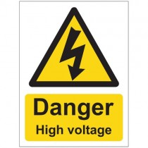 DANGER HIGH VOLTAGE SIGN (150 x 200mm)
