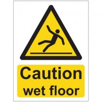 CAUTION WET FLOOR SIGN (150 x 200mm)