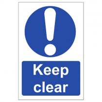 KEEP CLEAR SIGN (200 x 300mm)