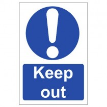 KEEP OUT SIGN (200 x 300mm)