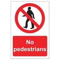 NO PEDESTRIANS SIGNS (200 x 300mm)