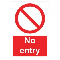 NO ENTRY SIGN (200 x 300mm)
