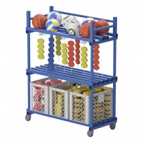 VENDIPLAS MOBILE SHELF STORAGE UNIT WITH HOOKS