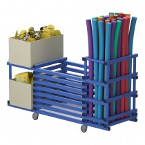 VENDIPLAS MULTIPURPOSE STORAGE TROLLEY - THREE-SECTION