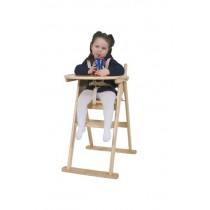 WOODEN FOLDING HIGH CHAIR