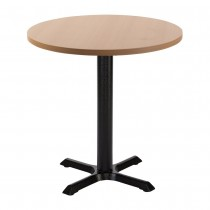 ORLANDO MFC CAST IRON TABLE - BEECH ROUND (700mm)