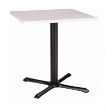ORLANDO SMF CAST IRON TABLE - WHITE SQUARE (700mm)