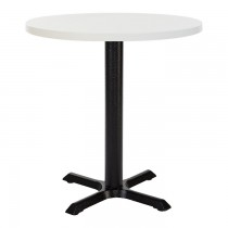ORLANDO MFC CAST IRON TABLE - WHITE ROUND (700mm)