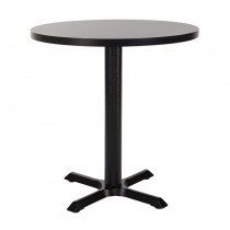 ORLANDO SMF CAST IRON TABLE - BLACK ROUND (700mm)