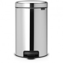 BRABANTIA SILENT CLOSE PEDAL BIN - BRILLIANT STEEL