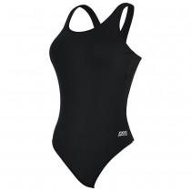 ZOGGS COTTESLOE POWERBACK SWIMSUITS - BLACK