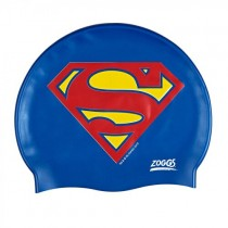 ZOGGS JUNIOR SUPERMAN SILICONE SWIM CAPS